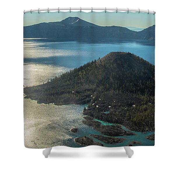 Last Crater View Shower Curtain