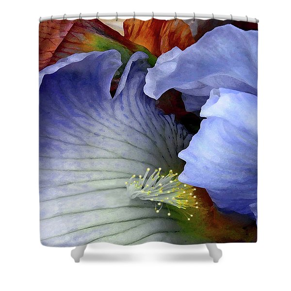 Last Iris Shower Curtain