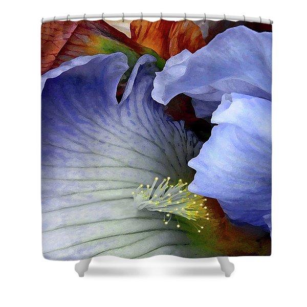 Last Iris Shower Curtain