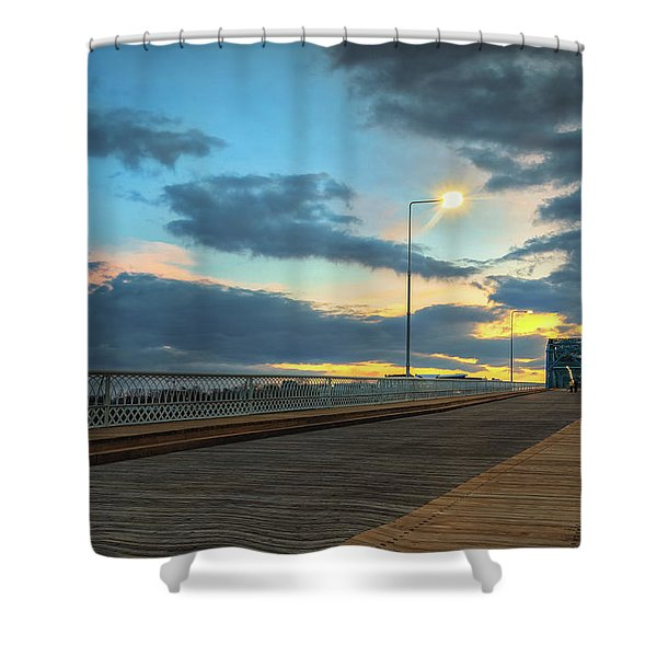 Last Light And Color Over Walnut Shower Curtain