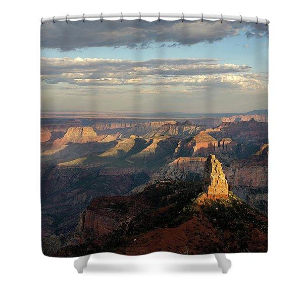 Last Light Mt Hayden Shower Curtain