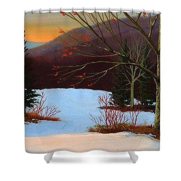 Last Light Of Day Shower Curtain