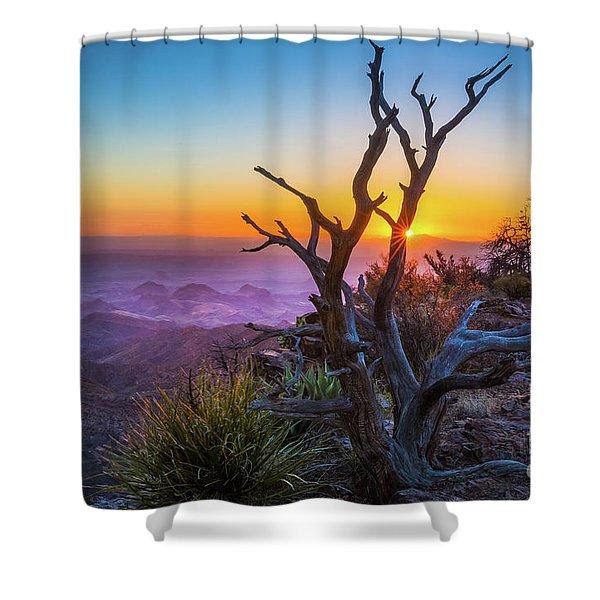 Last Light On The South Rim Shower Curtain