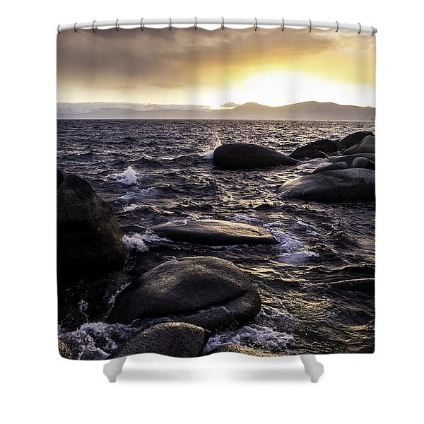 Last Light On The Water Shower Curtain