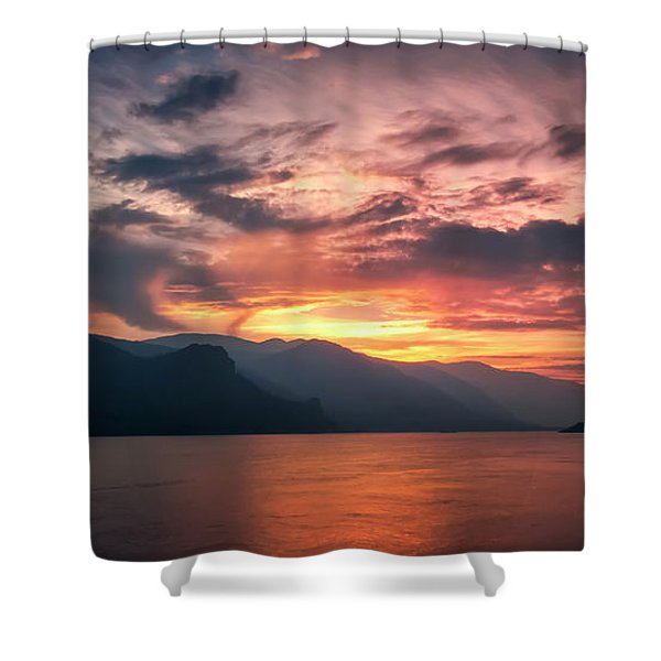Last Light - Wide Shower Curtain