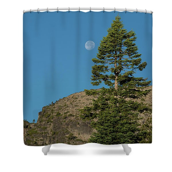 Last Moments Of A Full Moon Shower Curtain