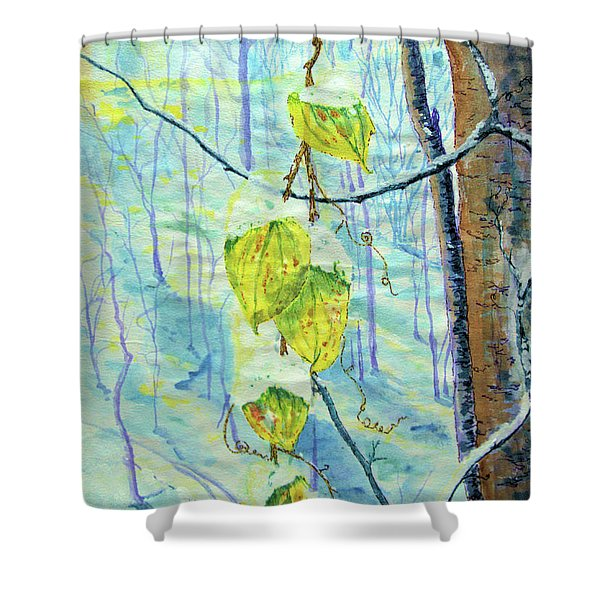 Last Of The Leaves Shower Curtain