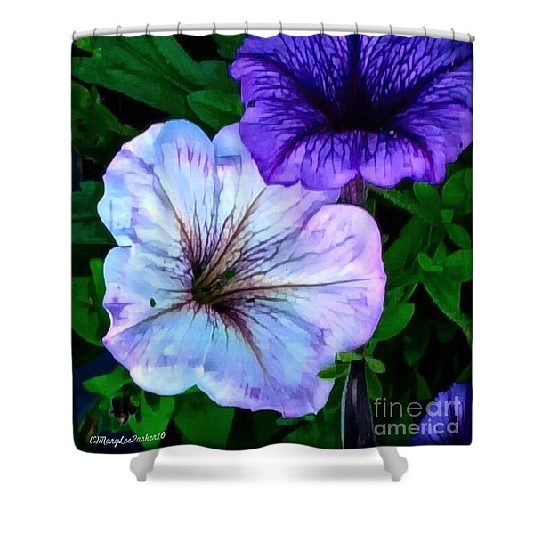 Last Of The Petunias   Shower Curtain