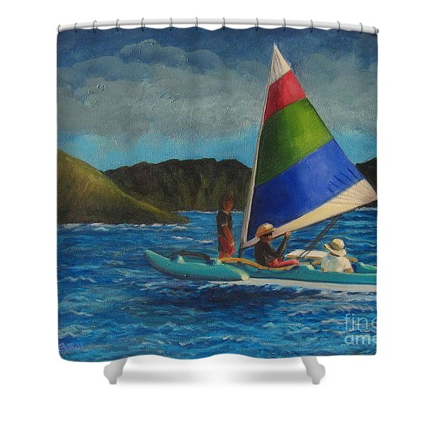 Last Sail Before The Storm Shower Curtain
