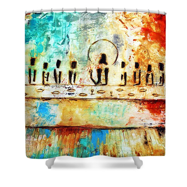 Last Supper Iv Shower Curtain