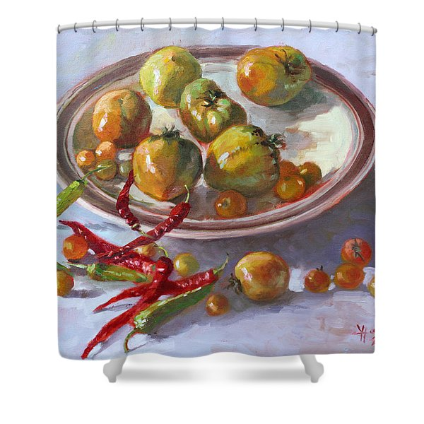 Last Tomatoes From My Garden Shower Curtain
