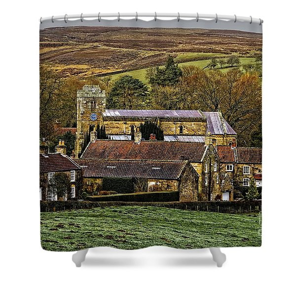 Lastingham Church And Village Yorkshire Shower Curtain