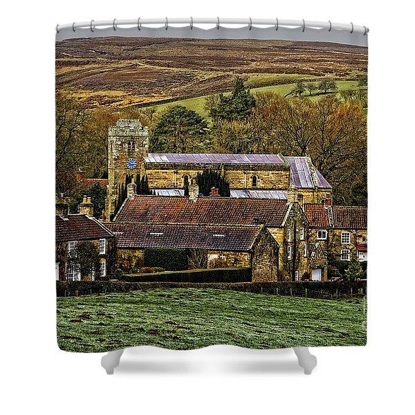 Lastingham Church And Village Yorkshire Shower Curtain