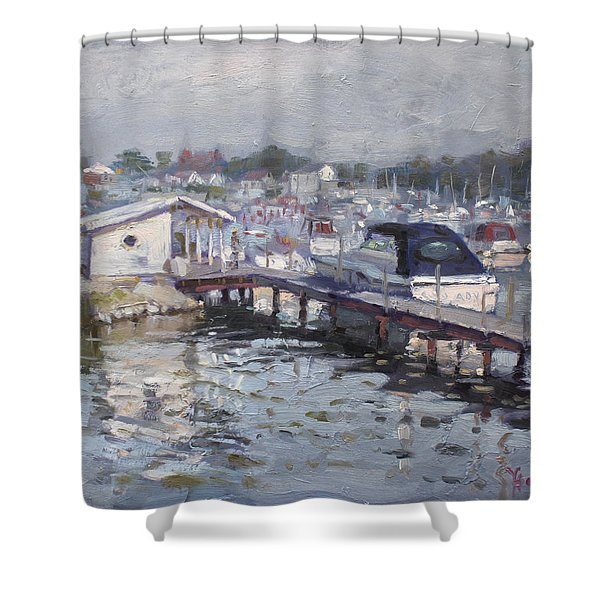 Late Afternoon At Tonawanda Harbor Shower Curtain