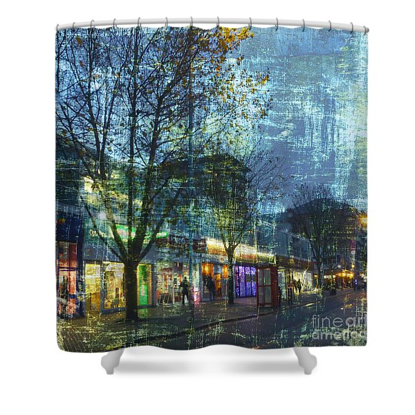 Late Afternoon In Autumn Shower Curtain