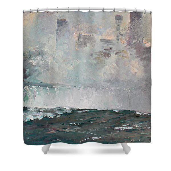 Late Afternoon In Niagara Falls Shower Curtain