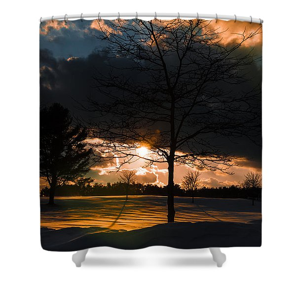 Late Afternoon Sun Shower Curtain