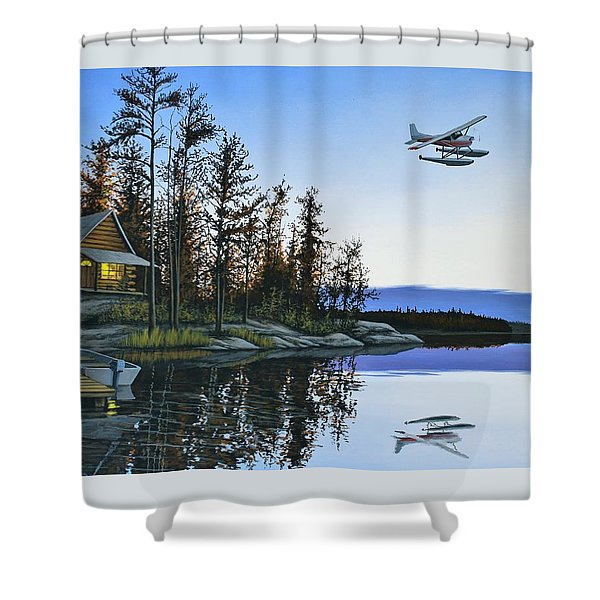 Late Arrival Shower Curtain