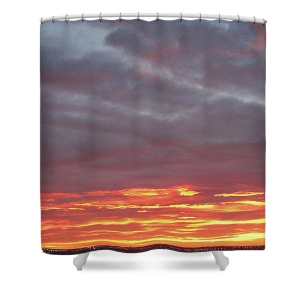 Late Prairie Sunrise Shower Curtain