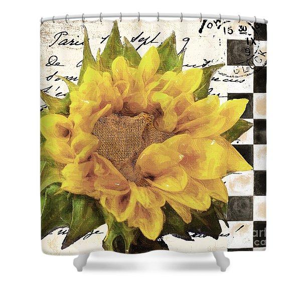 Late Summer Yellow Sunflowers Shower Curtain