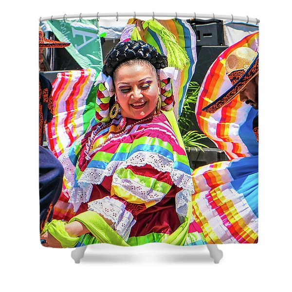 Latino Street Festival Dancers Shower Curtain