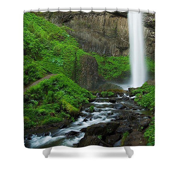 Latourell Falls Oregon Shower Curtain