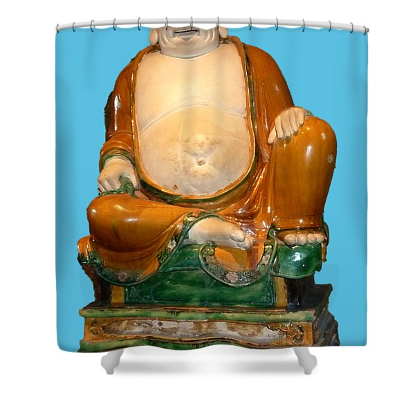 Laughing Monk Shower Curtain