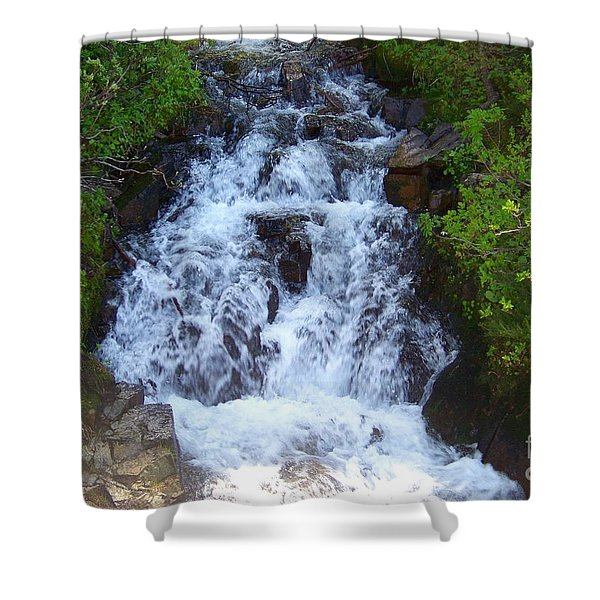 Shower Curtain featuring the photograph Laughing Water by Charles Robinson
