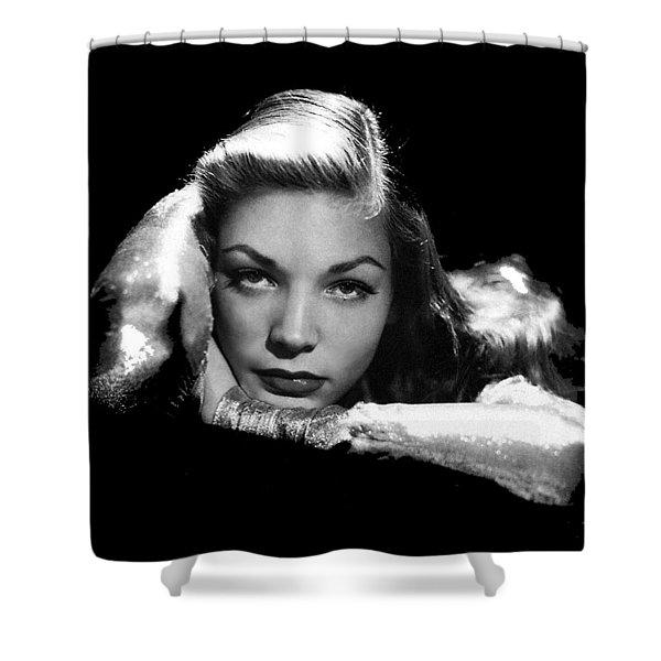 Lauren Bacall Publicity Photo Circa 1945-2015 Shower Curtain