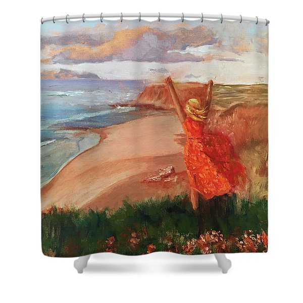 Lauren In Portugal Shower Curtain
