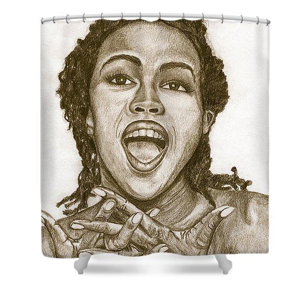 Lauryn Hill Shower Curtain