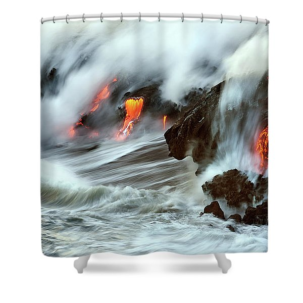 Lava And Ocean Shower Curtain