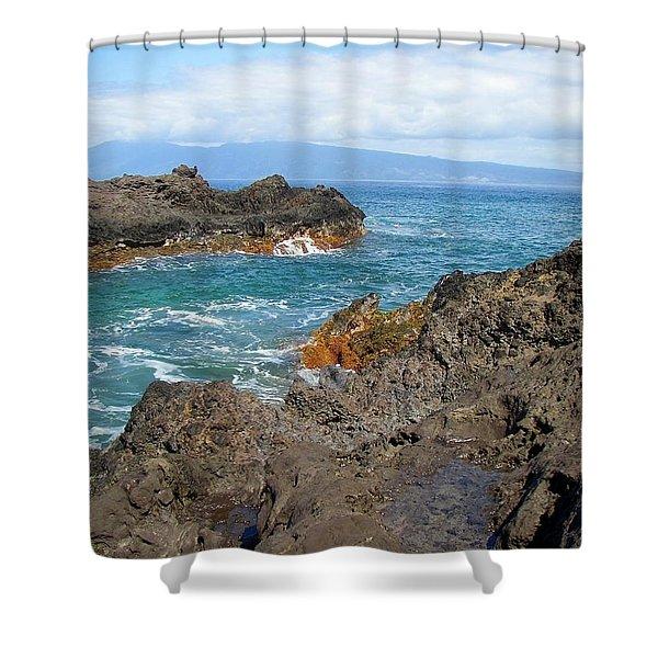 Lava Coastline - West Maui Shower Curtain
