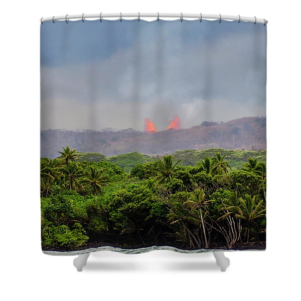 Lava Fountain Shower Curtain