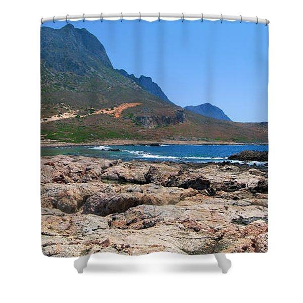 Lava Rocks Of Balos Shower Curtain