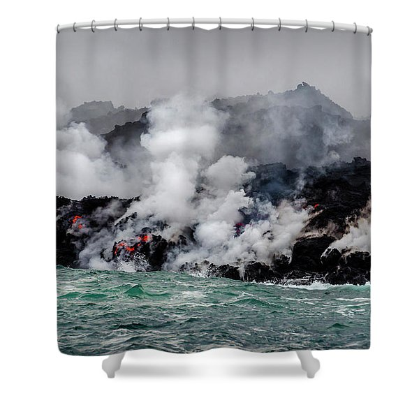 Lava Shelf Shower Curtain