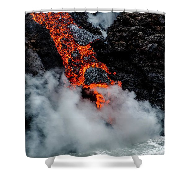 Lava Train Shower Curtain