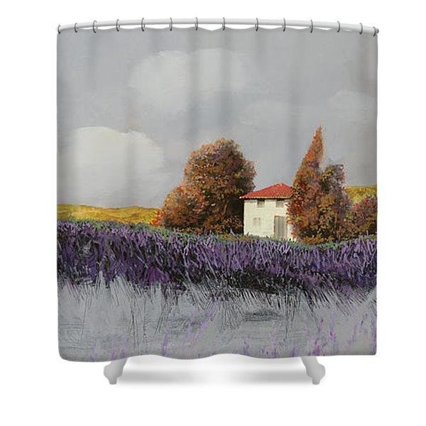 Lavanda Orizzontale Shower Curtain