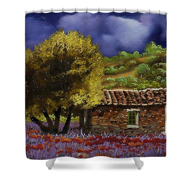 Lavanda Sotto Il Cielo Blu Shower Curtain