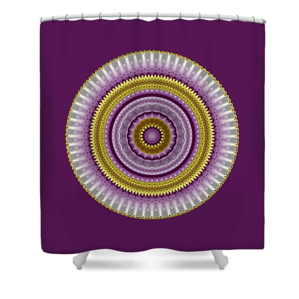 Lavender And Gold Lace Shower Curtain