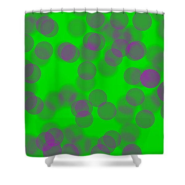 Lavender Bokeh Shower Curtain