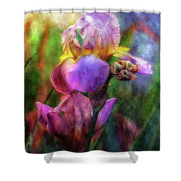 Lavender Iris Impression 0056 Idp_2 Shower Curtain
