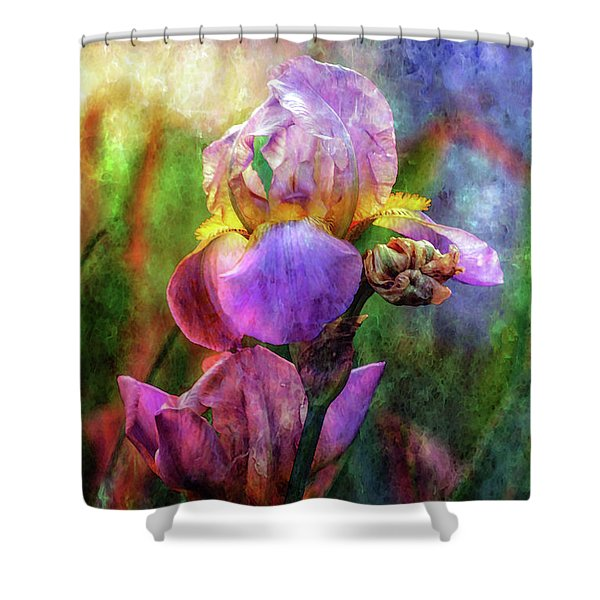 Lavender Iris Impression 0056 Idp_2 Shower Curtain