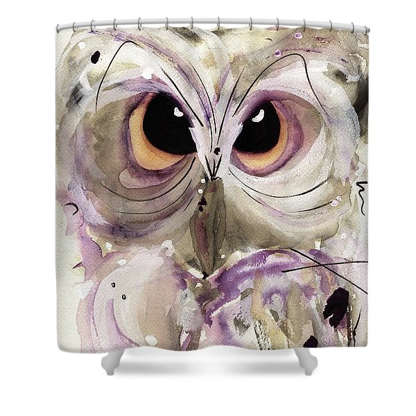 Lavender Owl Shower Curtain