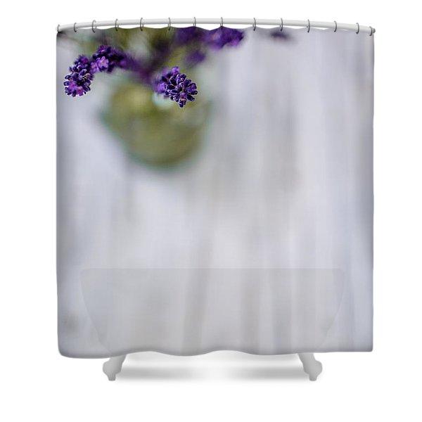Lavender Still Life Shower Curtain