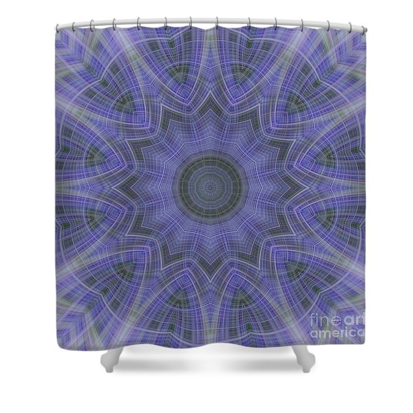 Lavender Twirl Kaleido Shower Curtain