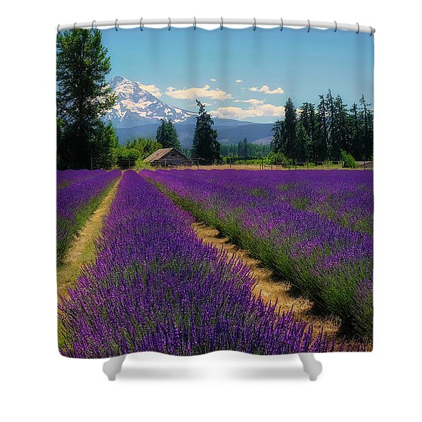 Lavender Valley Farm Shower Curtain