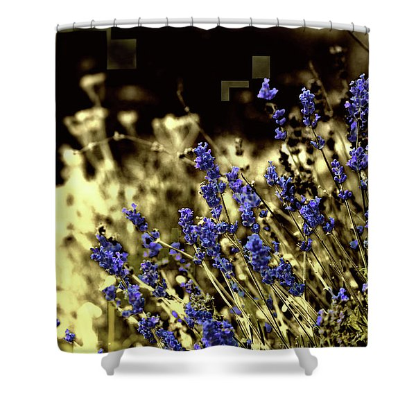 Lavender Yellow Shower Curtain