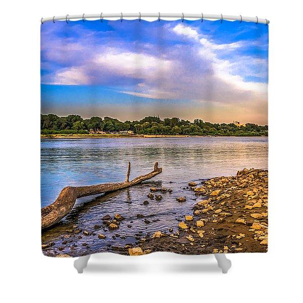 Law Water Vistula River View Shower Curtain
