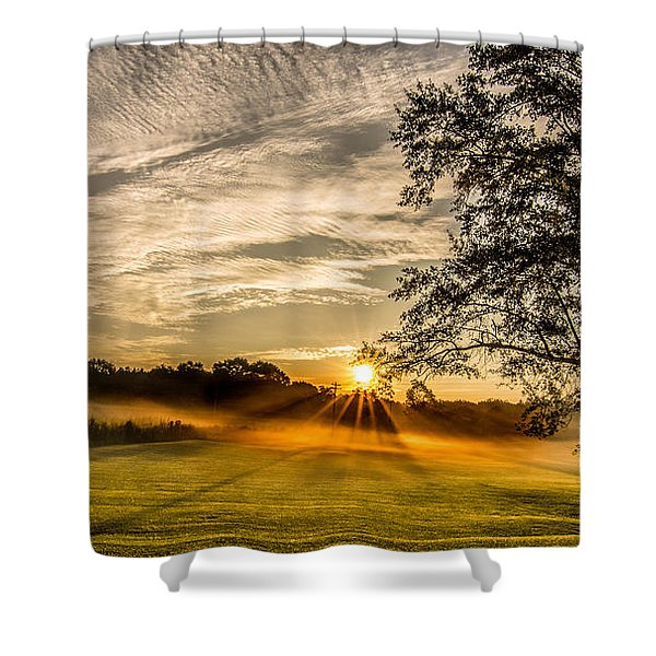 Lawn Sunrise Shower Curtain
